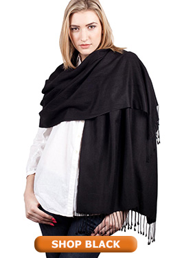 Black Pashmina Shawl Wrap