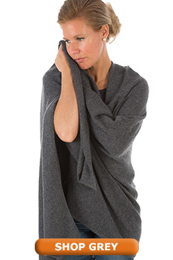 Grey Pashmina Shawl Wrap