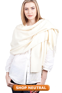 Neutral Pashmina Shawl Wrap