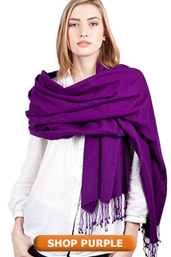 Purple Pashmina Shawl Wrap