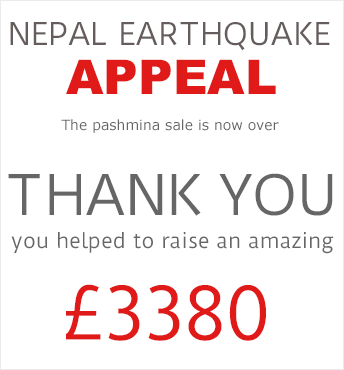 UK Pashmina Nepal Earthquake Appeal Thank You