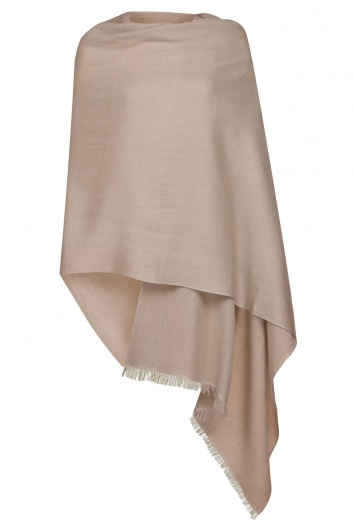 Cafe Latte Pashmina  - 70% Fine Wool Mix