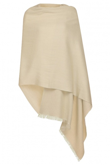 Biscuit Pashmina - 70% Cashmere 30% Silk