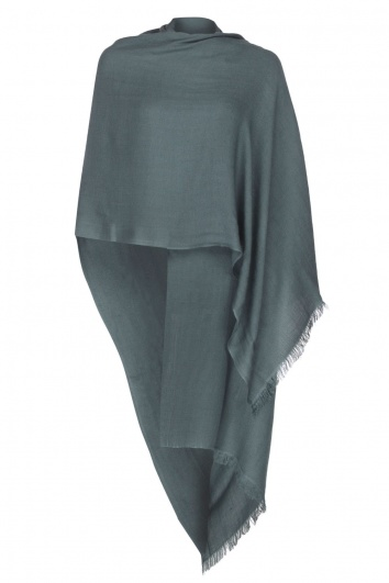 Charcoal Grey Pashmina - 70% Fine Wool Mix