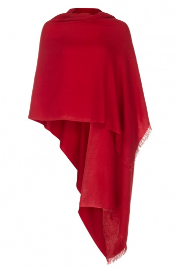 Red Pashmina - 50% Cashmere 50% Silk