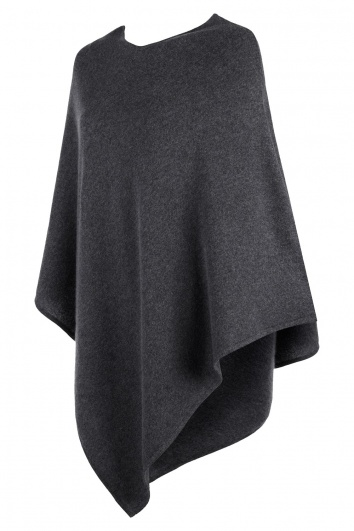 Charcoal Grey Cashmere Poncho