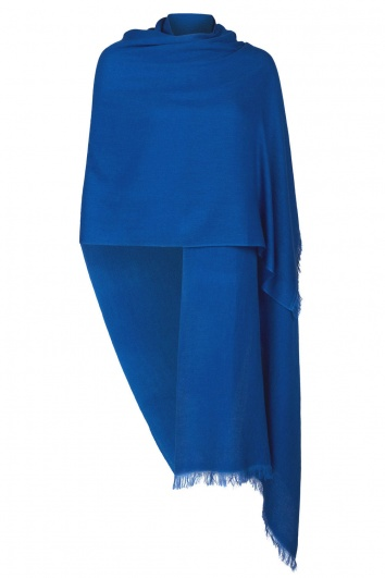 French Blue Pashmina - 50% Cashmere 50% Silk