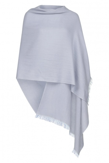 Ice Blue Pashmina - 50% Cashmere 50% Silk - Slightly Imperfect