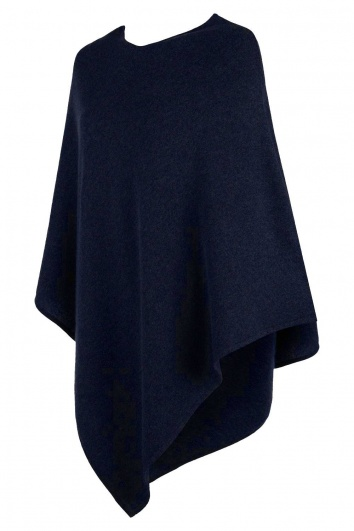 Midnight Blue Cashmere Poncho