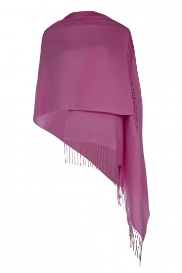 Super Soft Raspberry Italian Pashmina with Tassels