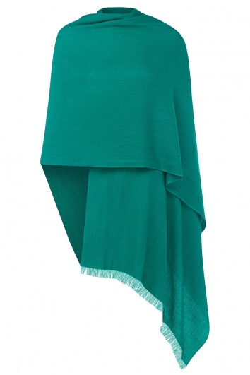 Teal Pashmina - 50% Cashmere 50% Silk - Slightly Imperfect