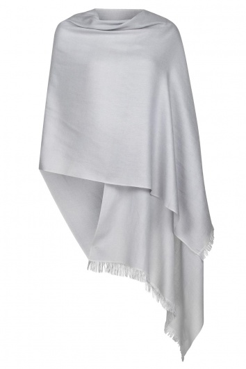 Silver Grey Summer Weight Cashmere Pashmina - Slightly Imperfect