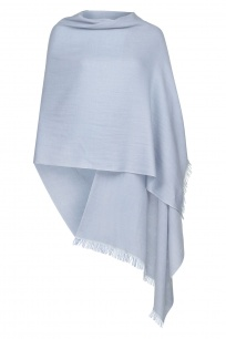 Baby Blue Pashmina - 70% Fine Wool Mix