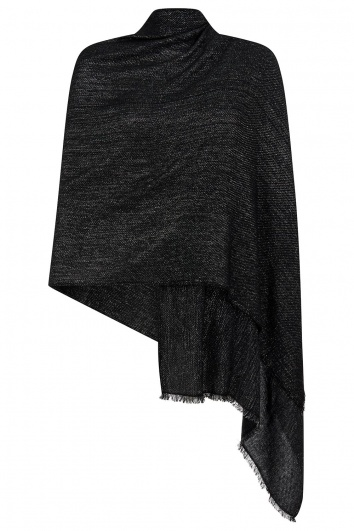 Black Cashmere Pashmina with Sparkle