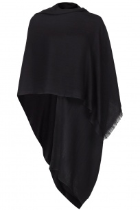 Black Pashmina - 70% Fine Wool Mix