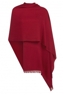 Burgundy Pashmina - 70% Fine Wool Mix