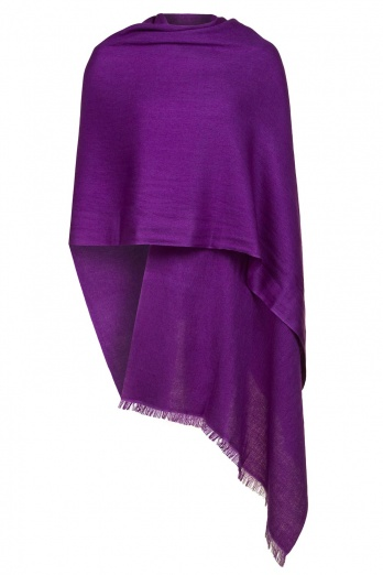 Purple Pashmina - 50% Cashmere 50% Silk