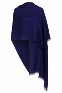 Midnight Blue Pashmina - 70% Fine Wool Mix