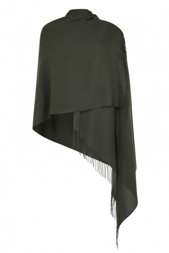 Super Soft Olive Green Italian Pashmina with Tassels
