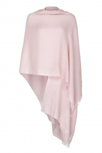 Pale Pink  Pashmina - 50% Cashmere 50% Silk - Slightly Imperfect