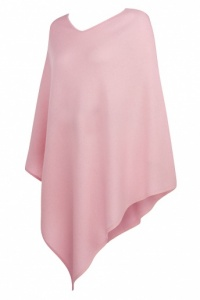 Pale Pink Cashmere Poncho