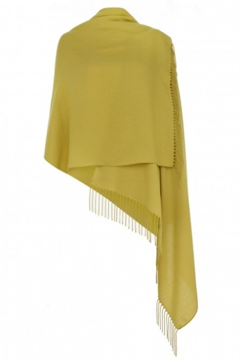 Super Soft Chartreuse Italian Pashmina with Tassels