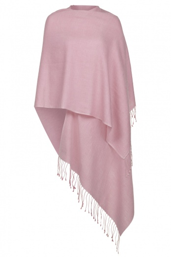 Super Soft Dusky Pink Italian Pashmina with Tassels