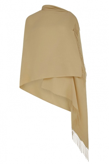 Super Soft Gold Italian Pashmina with Tassels
