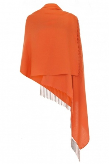 Super Soft Orange Italian Pashmina with Tassels