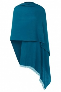 Teal Pashmina - 70% Fine Wool Mix