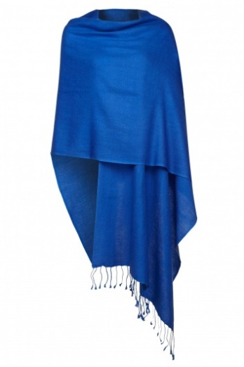 Super Soft Royal Blue Italian Pashmina with Tassels