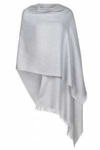 Silver Grey Pashmina - 70% Fine Wool Mix